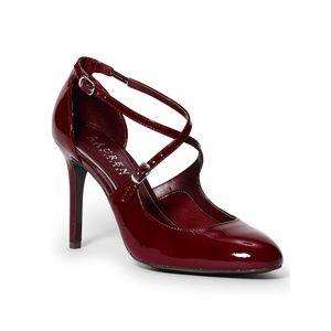 Ralph Lauren Raquel Burgandy patent leather heels